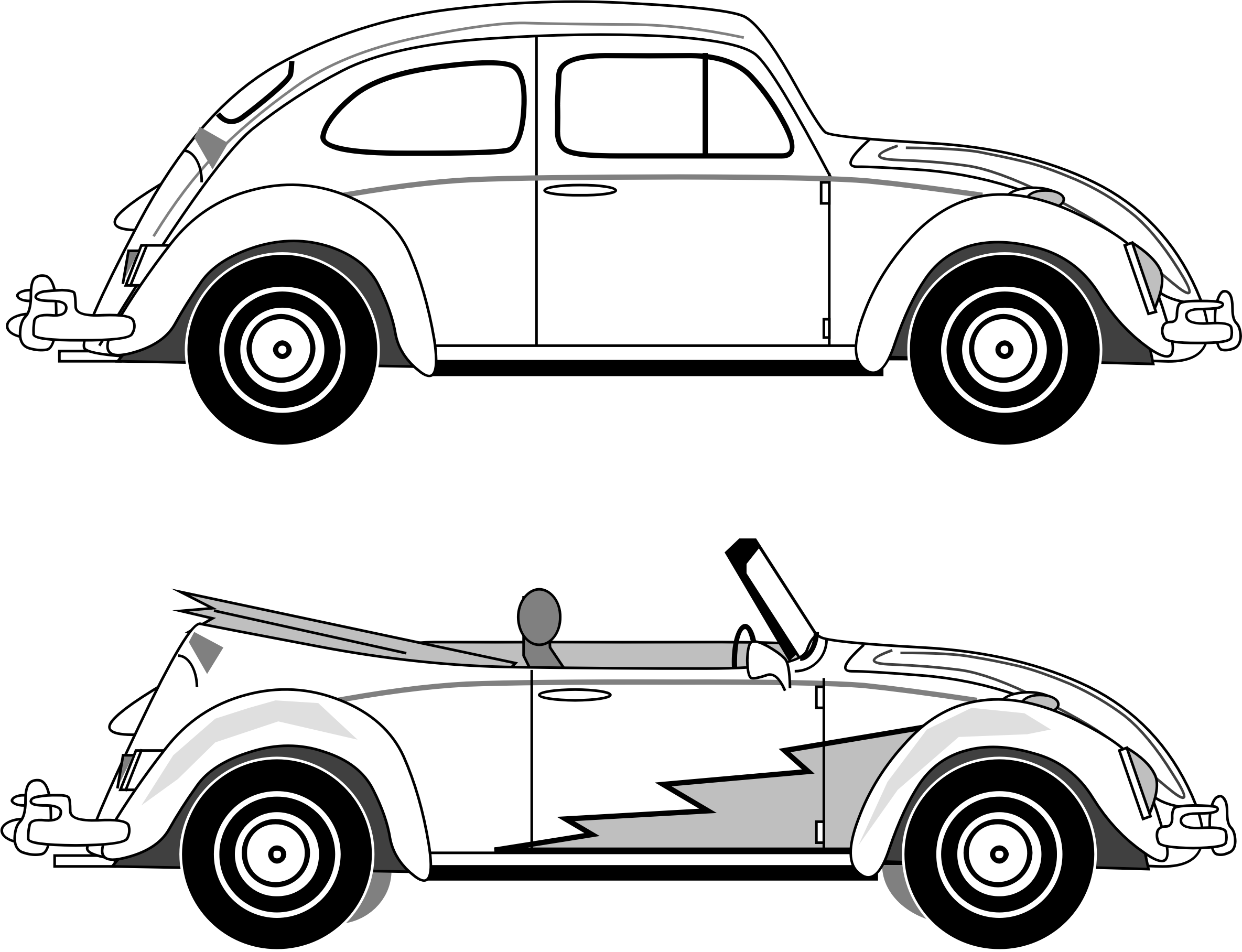 Vw silhouette at getdrawings. Clipart cars beetle