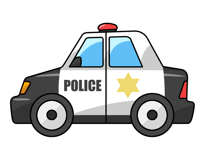 Clipart car cartoon. Police clip art reviewwalls