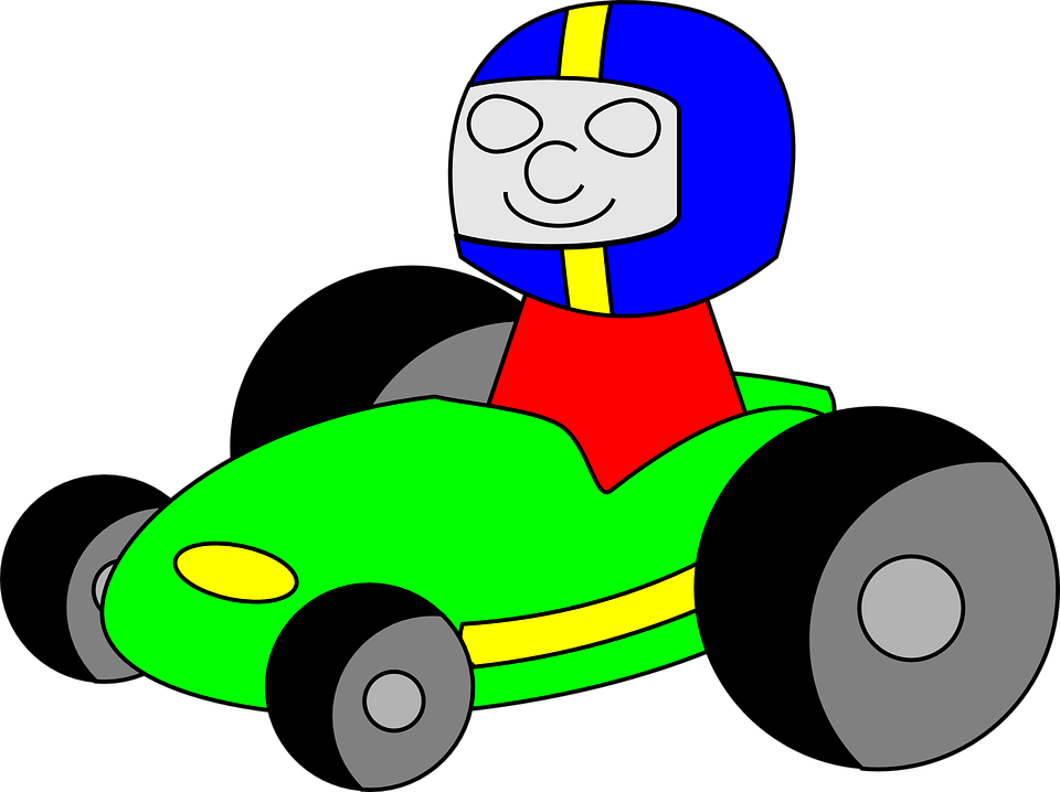 Race shop of library. Clipart car cartoon