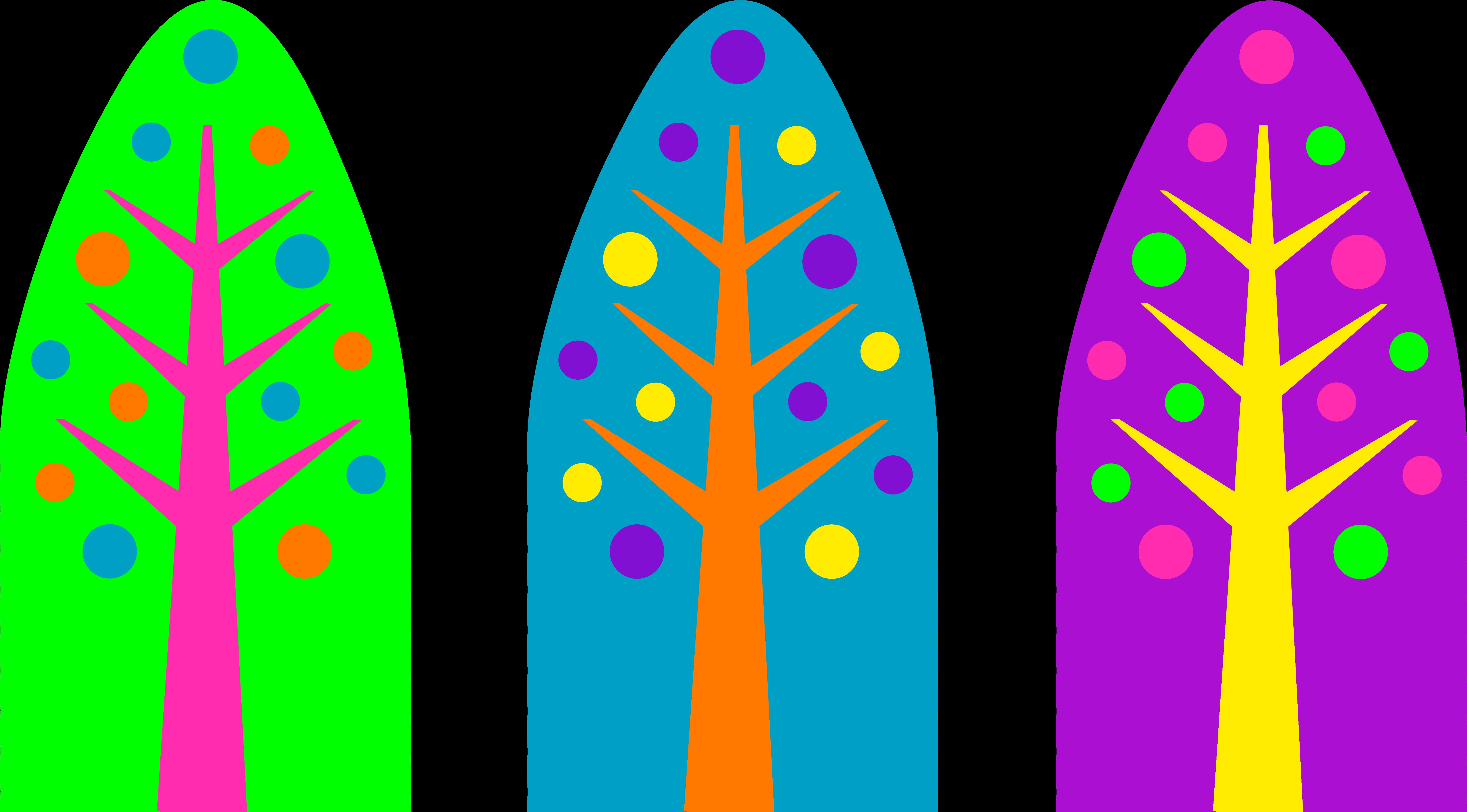 Unique neon colored christmas. Colors clipart design
