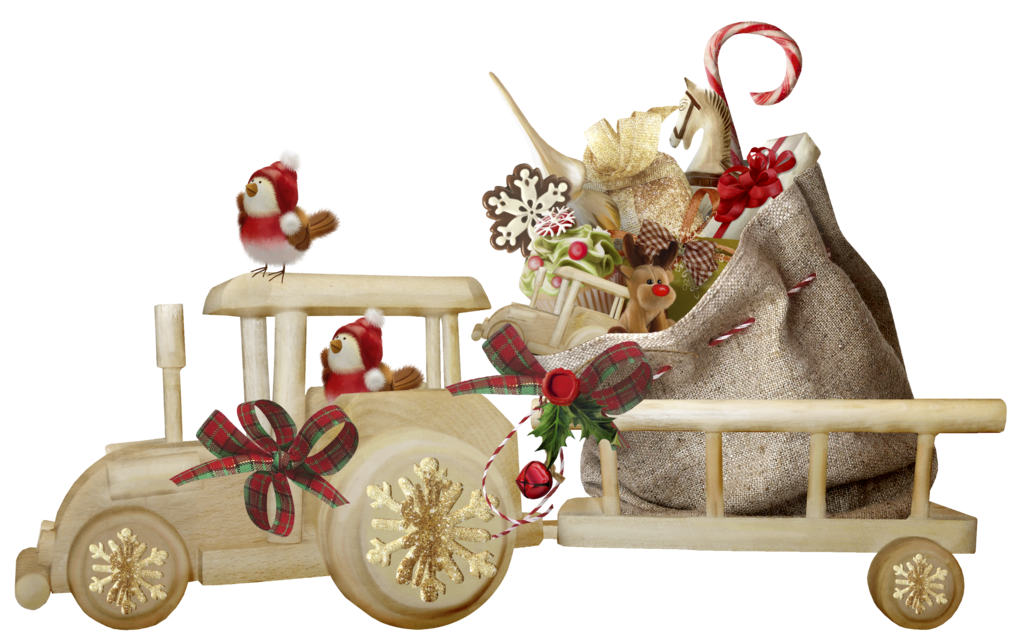 Christmas train png by. Wagon clipart toy cart