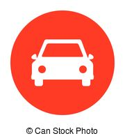 Clipart cars circle. Eco electric car sign