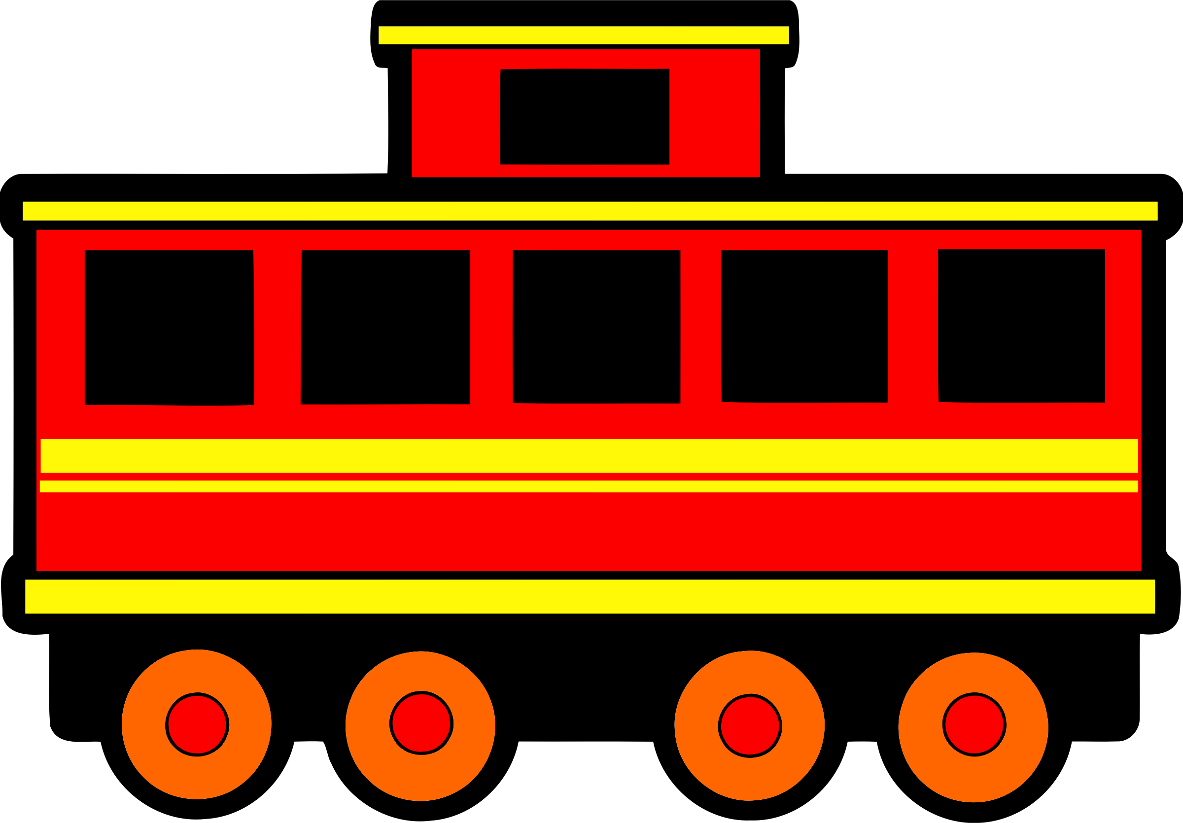 Railway carriage big image. Clipart car colour