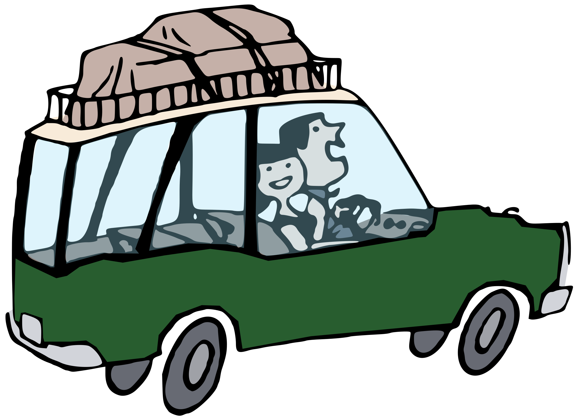 Going on holiday big. Clipart car colour