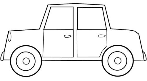 Car sketch to cm. Clipart cars colour