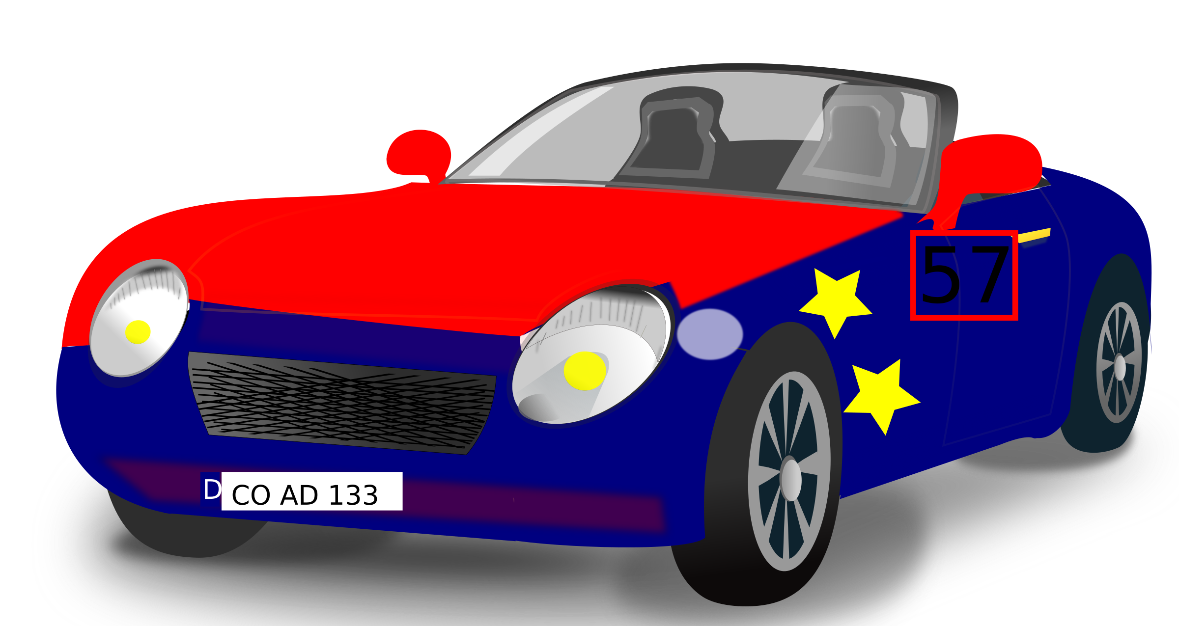 Red blue sports big. Clipart car convertible