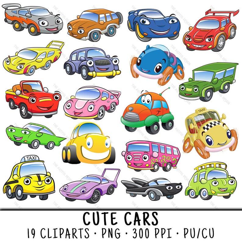 Car clip art png. Clipart cars cute