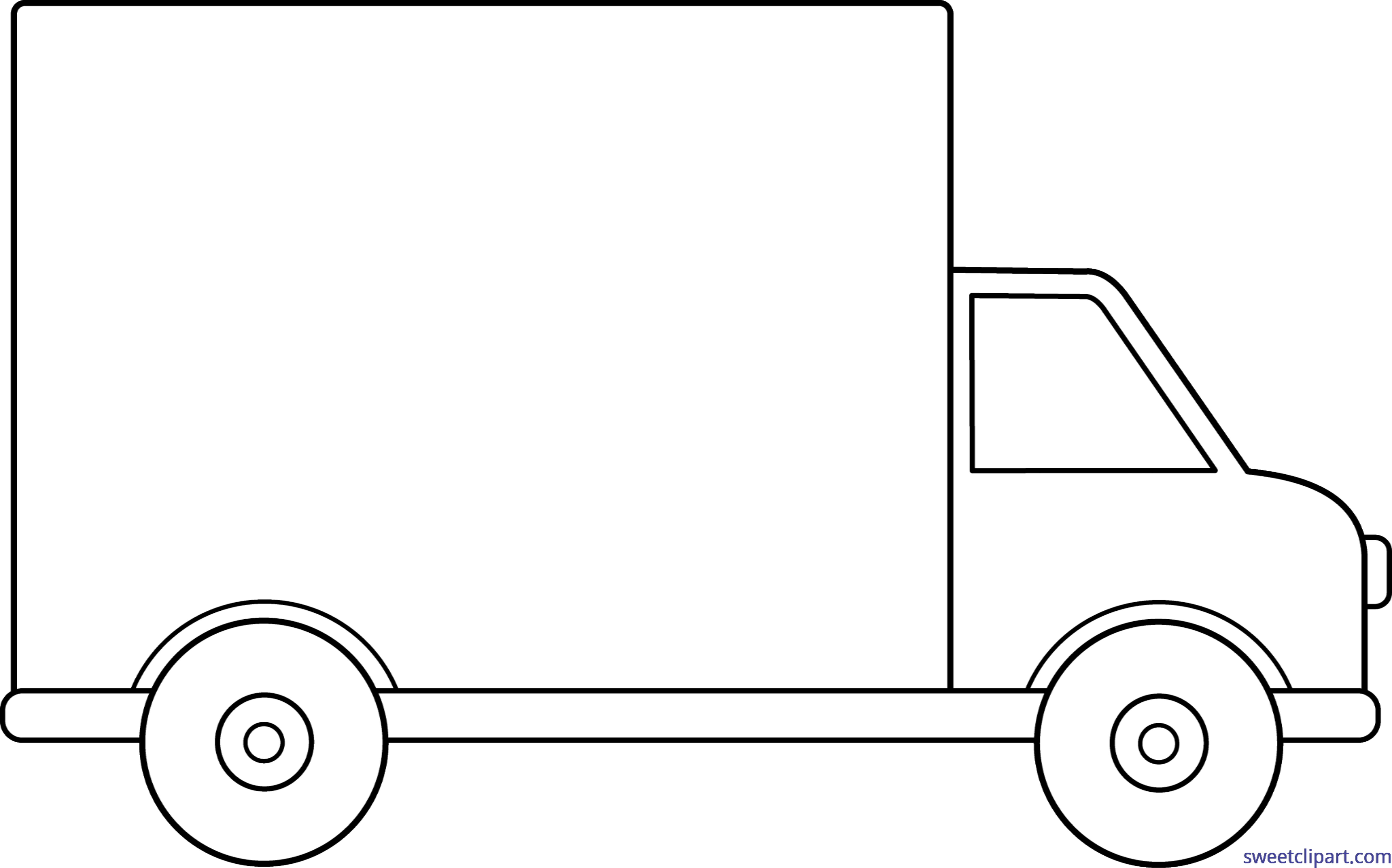 Delivery lineart clip art. Valentine clipart truck