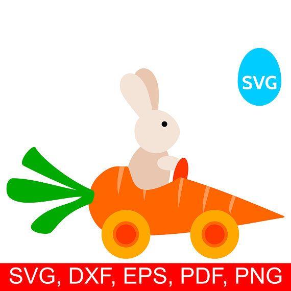 Clipart cars easter. Bunny svg carrot car