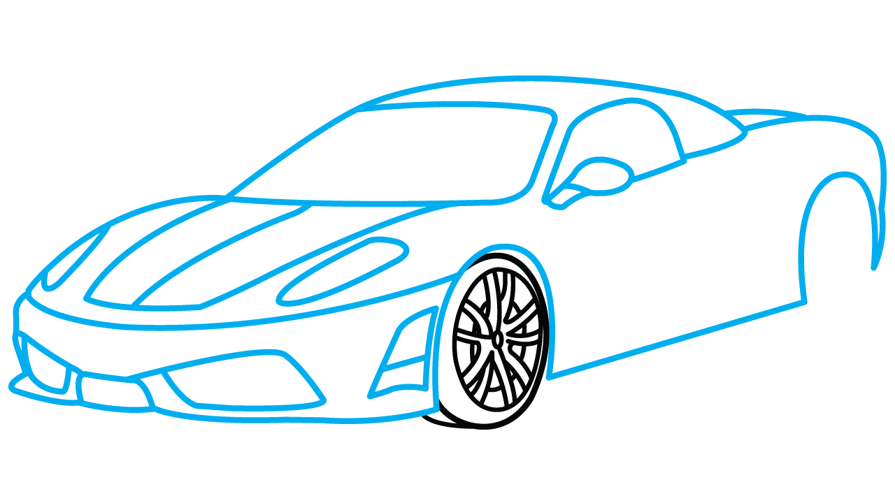 Clipart cars simple. Car drawing step at