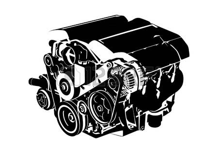 Free car motor cliparts. Engine clipart vehicle engine