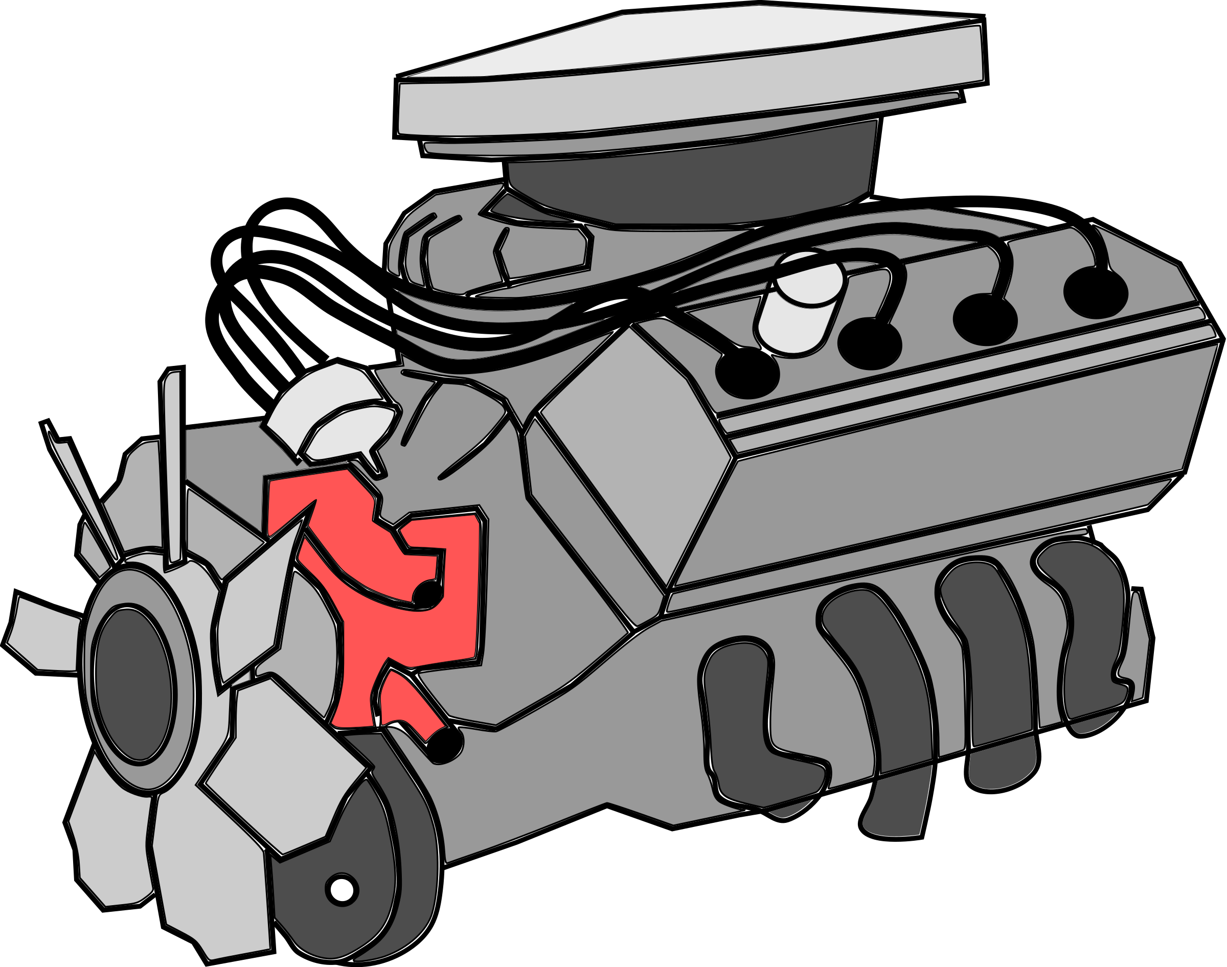 Engine clipart vehicle engine. Pin by charudeal on