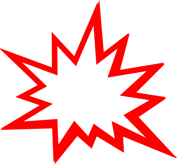Explosion clipart bubble. Red clip art at