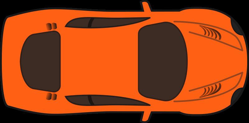 Orange racing car top. Clipart cars eye