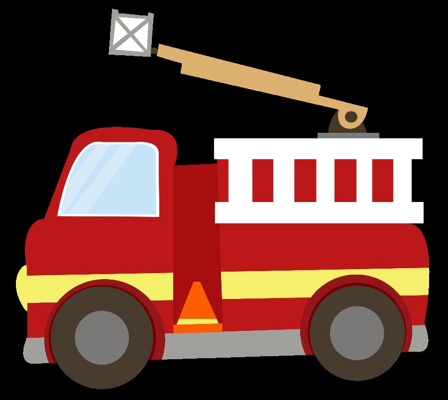 Bombeiros e pol cia. Ladder clipart fire truck