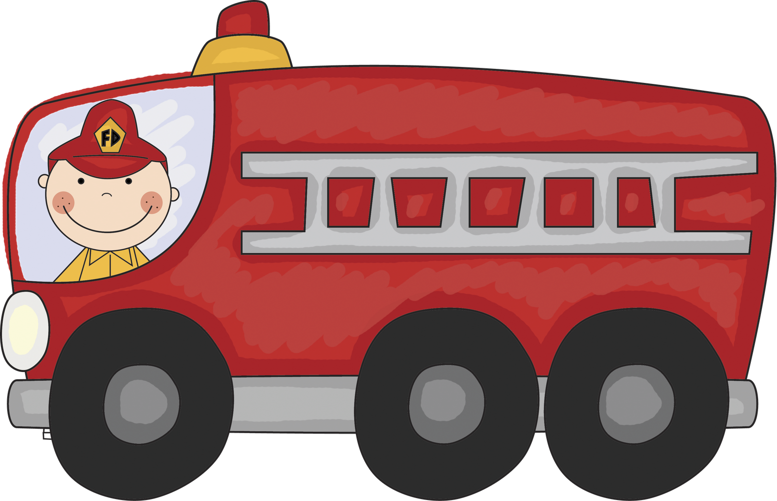 Vintage fire truck images. Engine clipart free engine