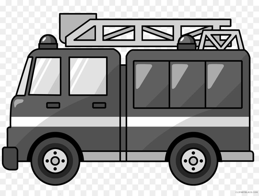 Car truck van transparent. Firefighter clipart vehicle