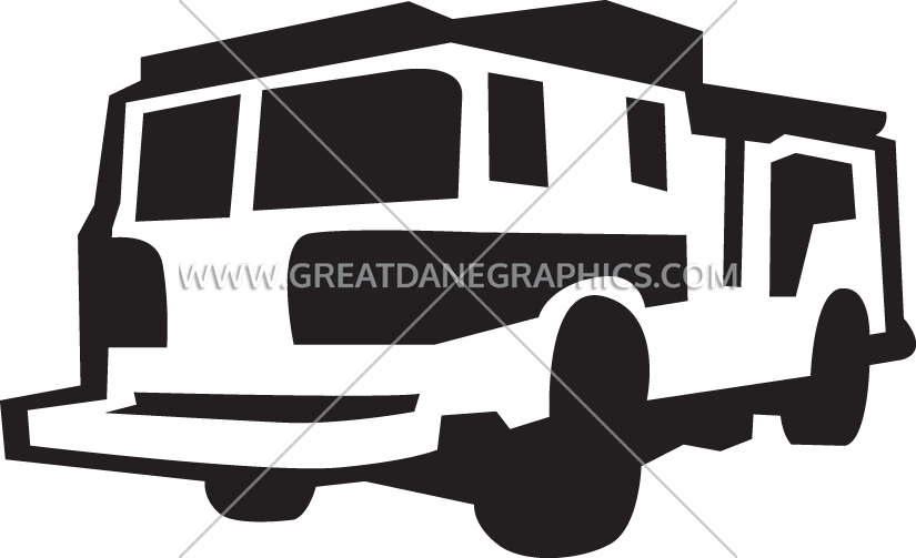 Truck production ready artwork. Firefighter clipart vehicle