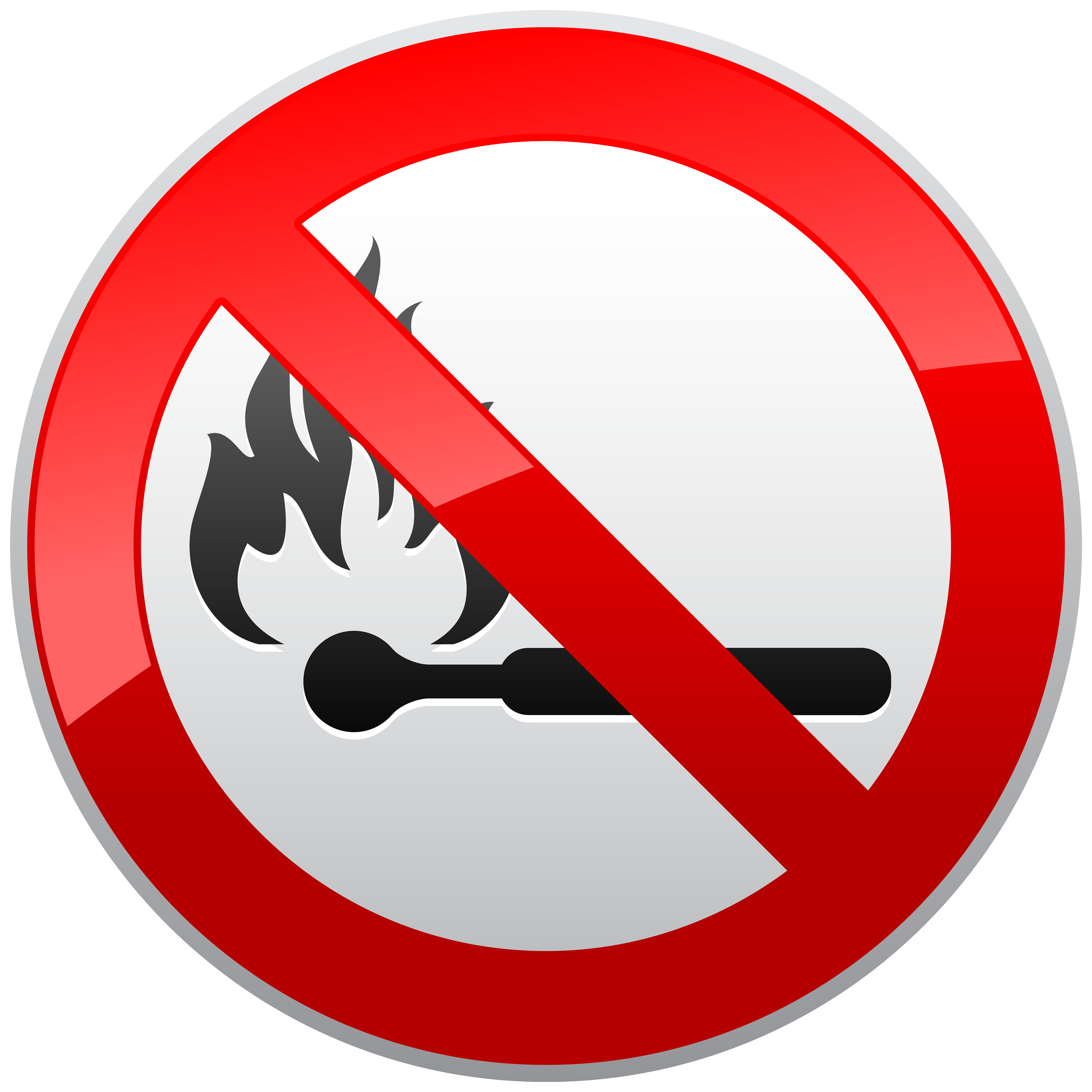 No naked prohibition sign. Clipart flames emoji