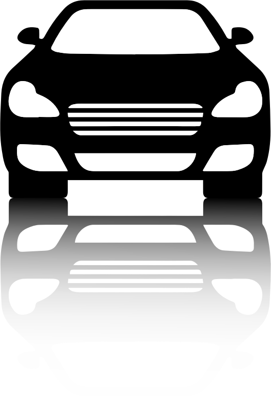 Black car view with. Clipart cars front