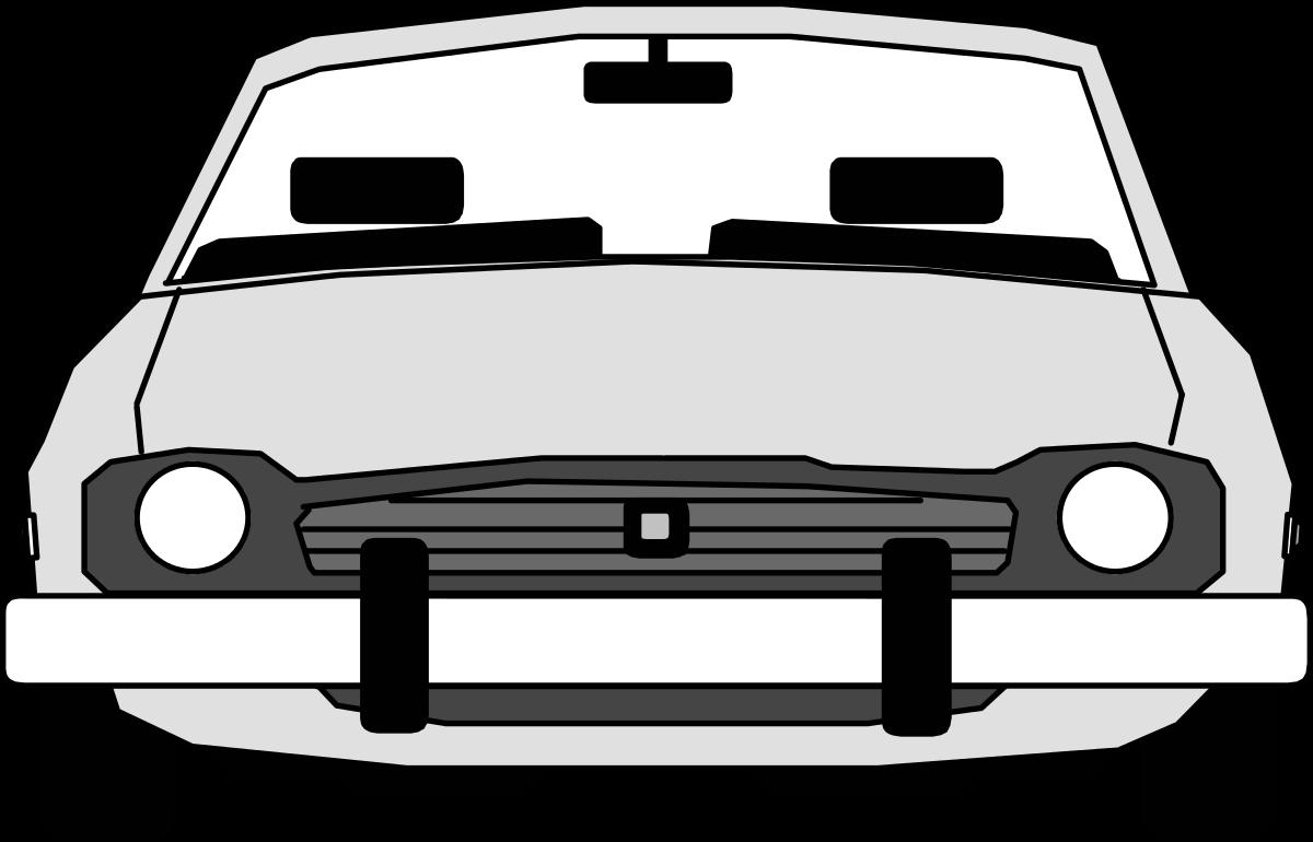 Car front view panda. Clipart cars headlight