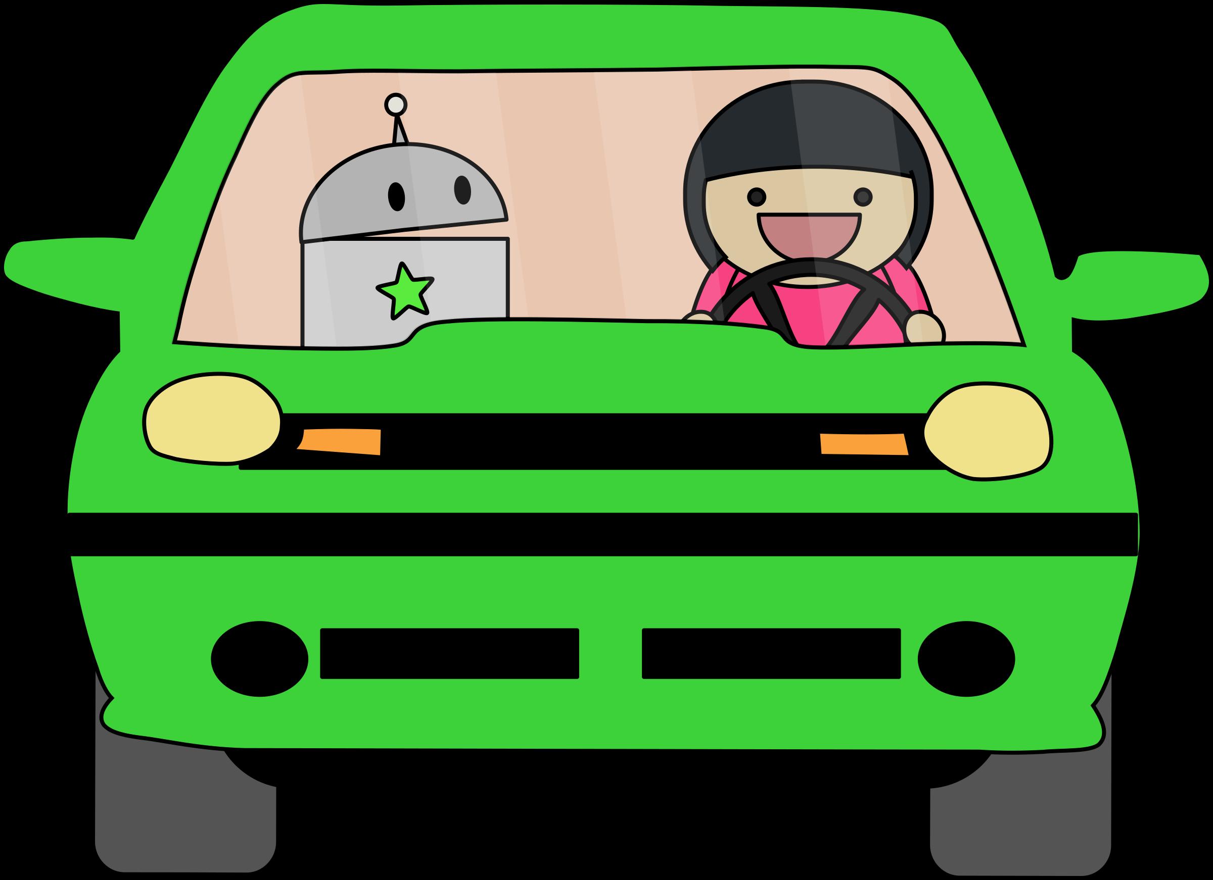 Clipart car green. Driving big image png