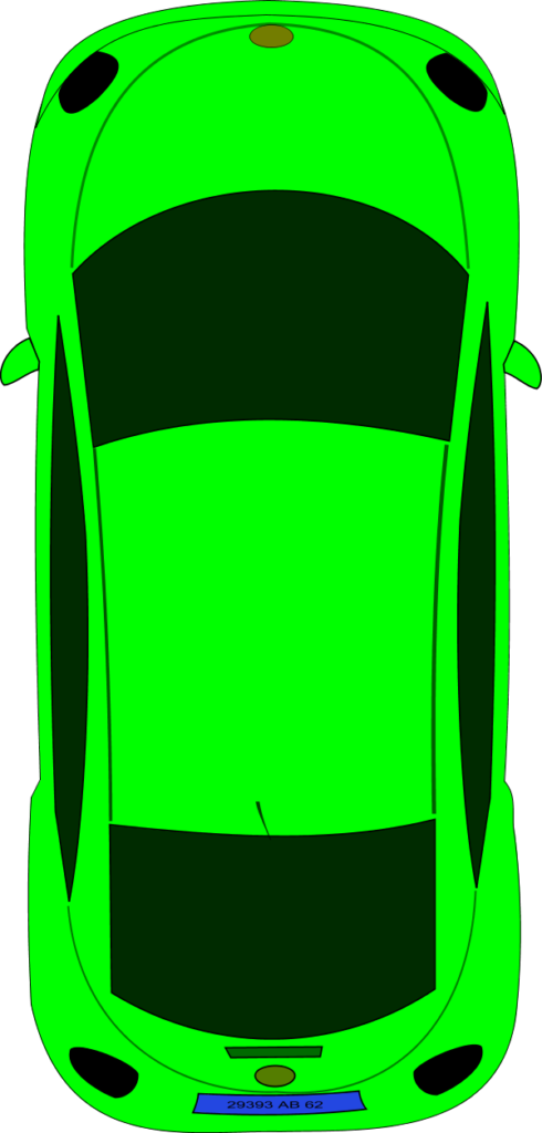Clipart cars green.  top view of