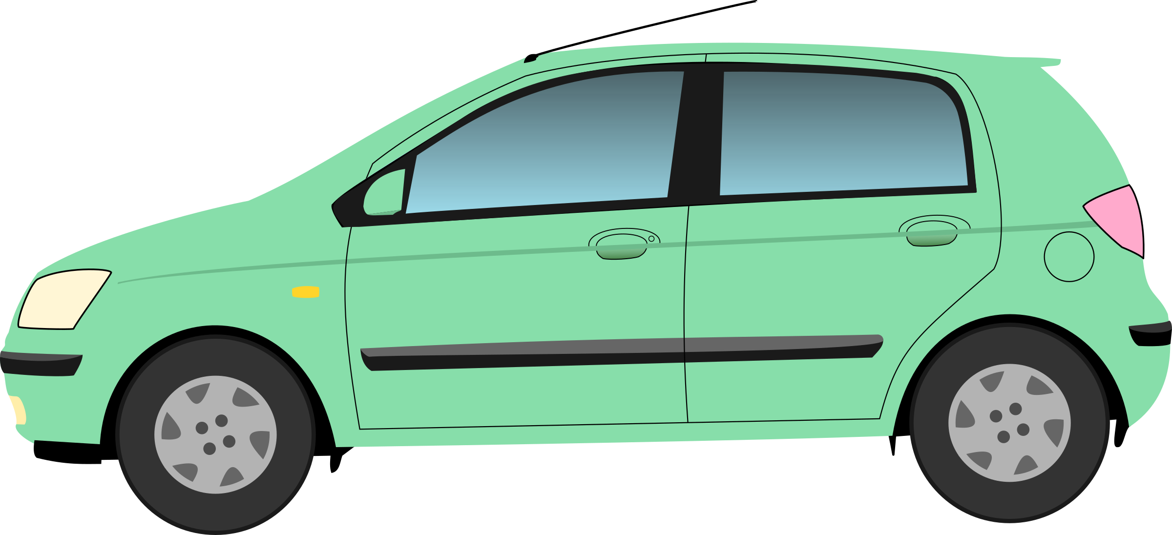 Clipart car green. Hyundai getz