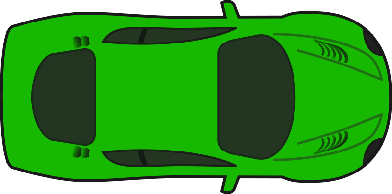 Clipart cars green. Racing car top view