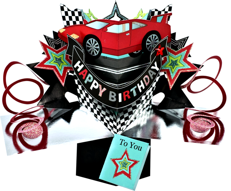 Second nature pop ups. Clipart car happy birthday
