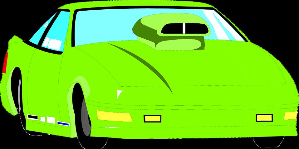 Free stock photo illustration. Green clipart sports car