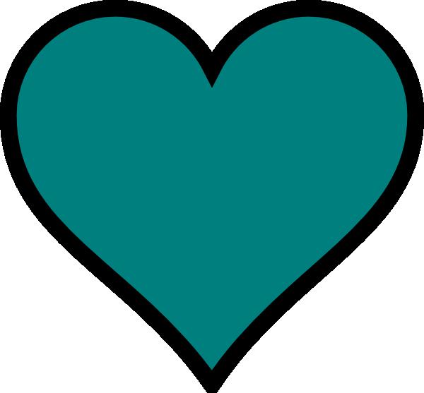 Hearts clipart ribbon. Teal heart black decor