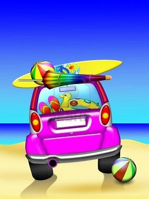 Clipart cars summer. Stock photo travel holiday