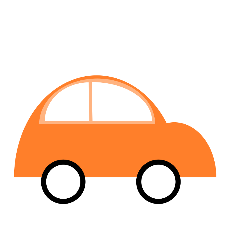 Simple flat three color. Home clipart car