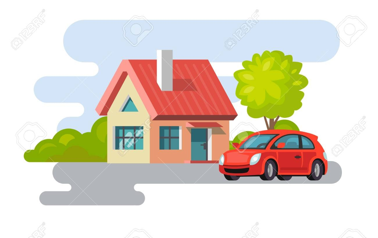 Within and car in. Clipart cars house