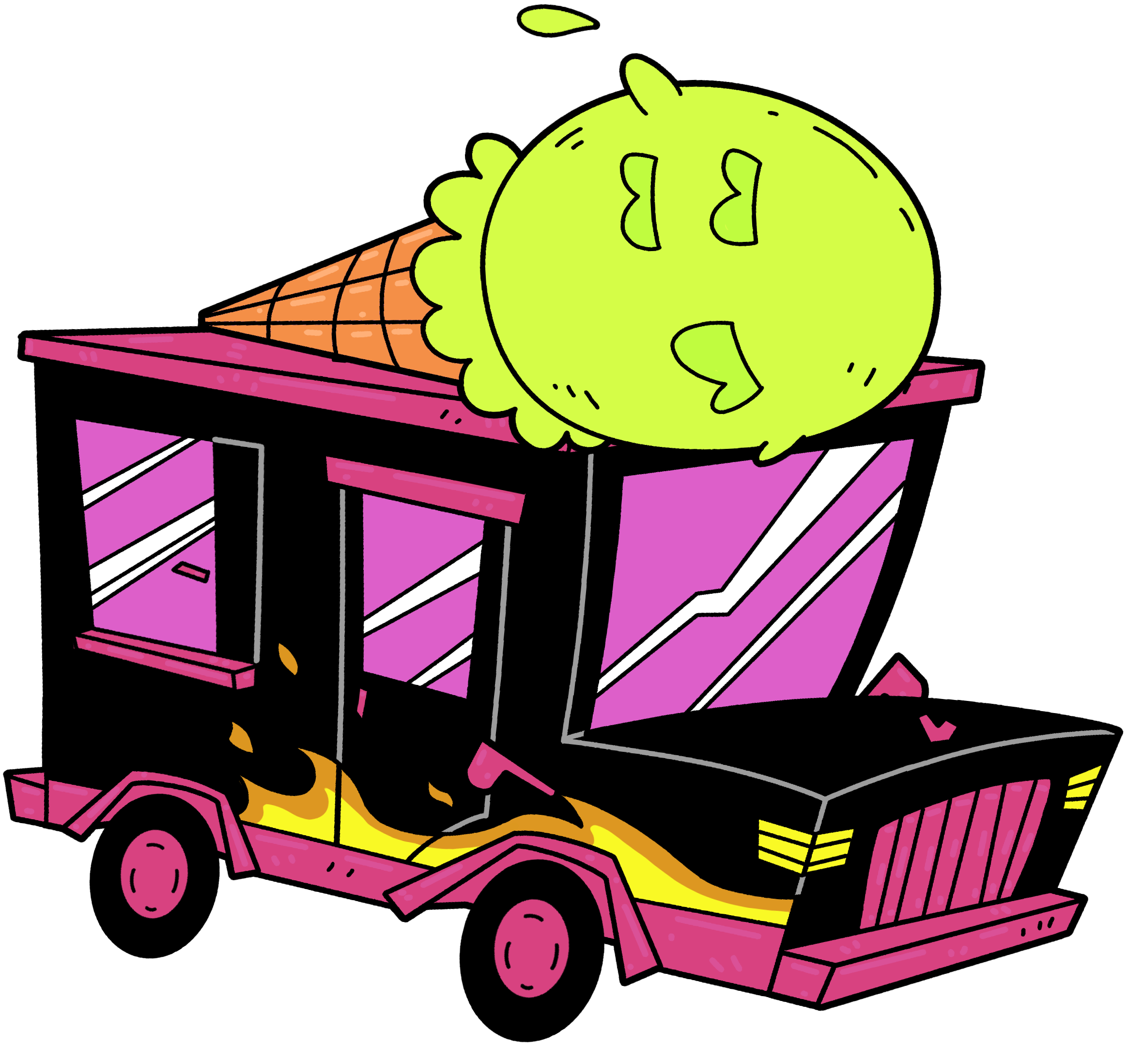 Toejam earl back in. Clipart car ice cream