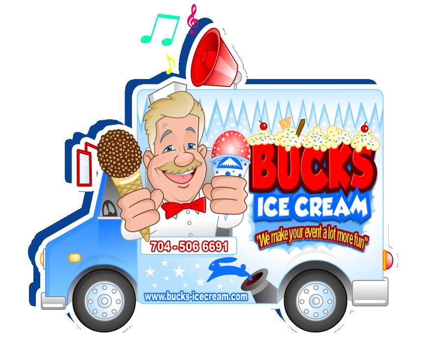 Clipart car ice cream. Bucks truck we make