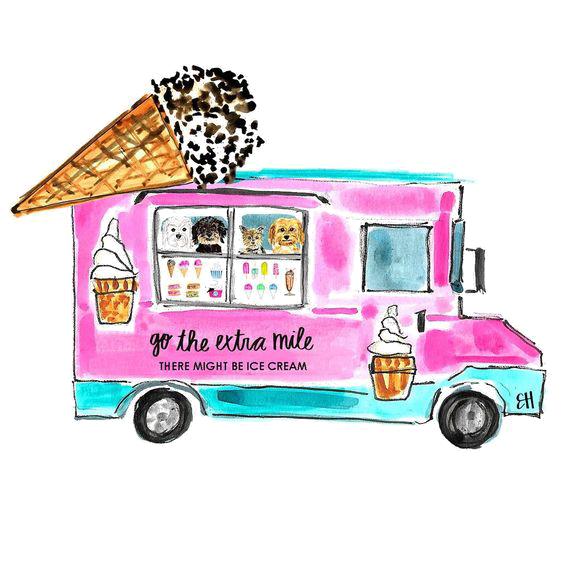 Clipart car ice cream. Food truck cartoon illustration