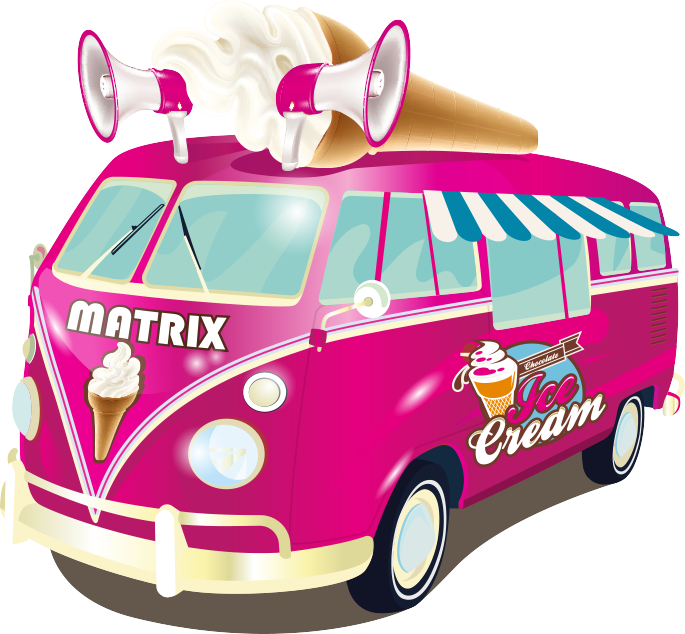 Home matrix cream vans. Ice clipart retro