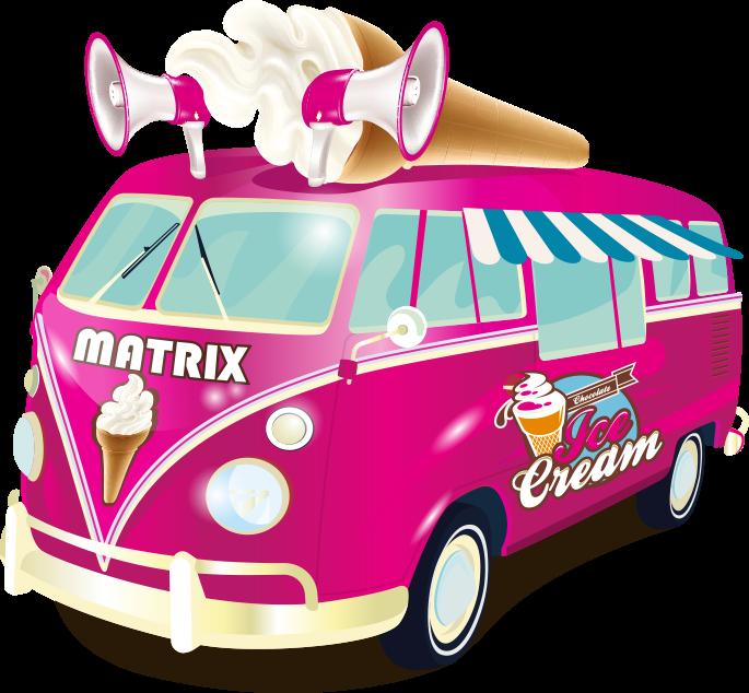 Clipart car ice cream. Home matrix vans mr