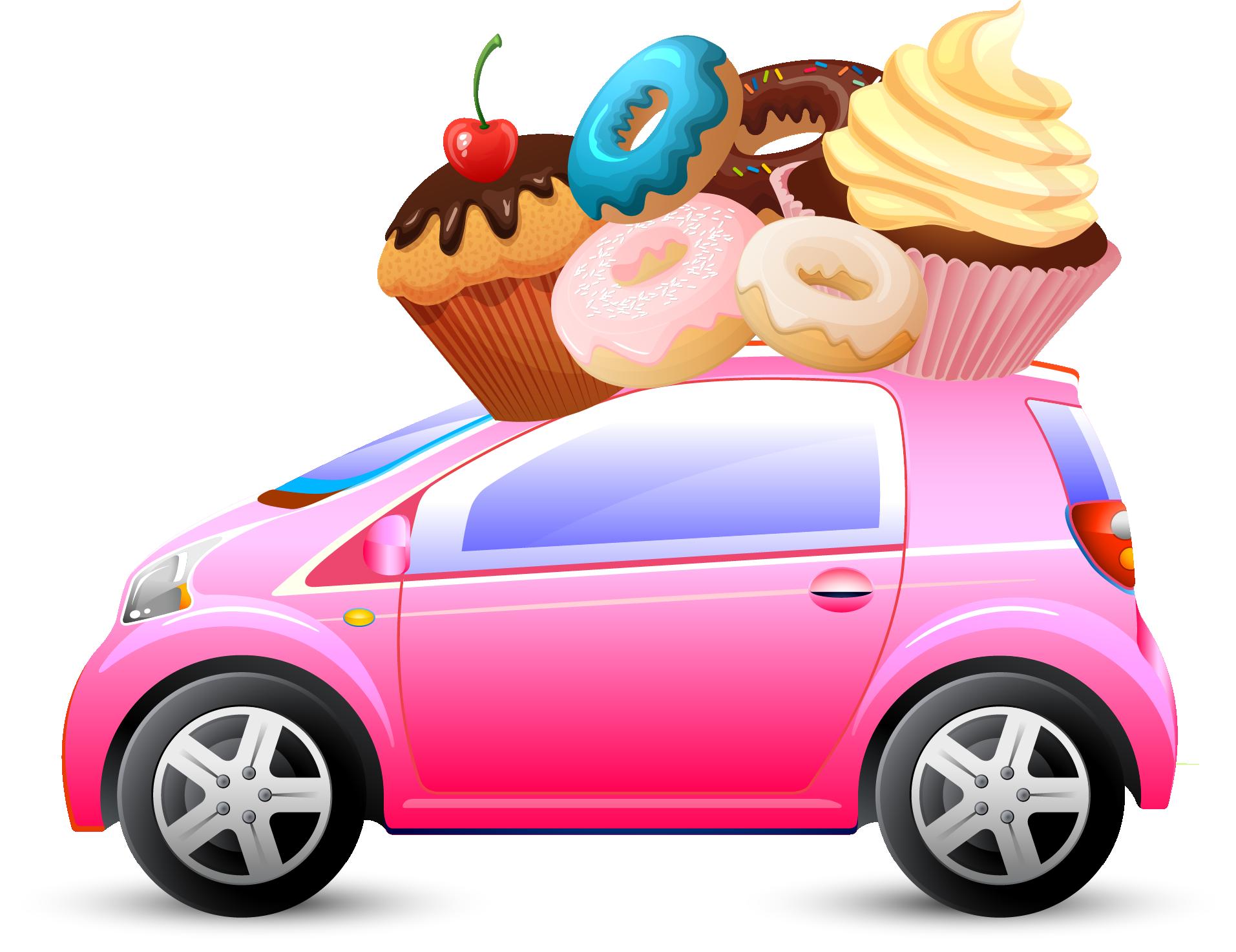 Electric vehicle tesla motors. Clipart car ice cream