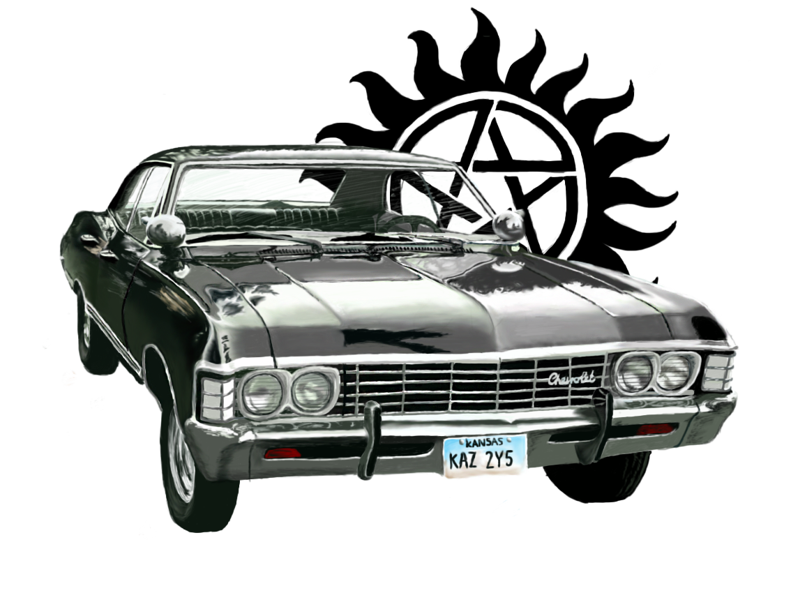 Supernatural by allthingslauralike on. Clipart cars impala