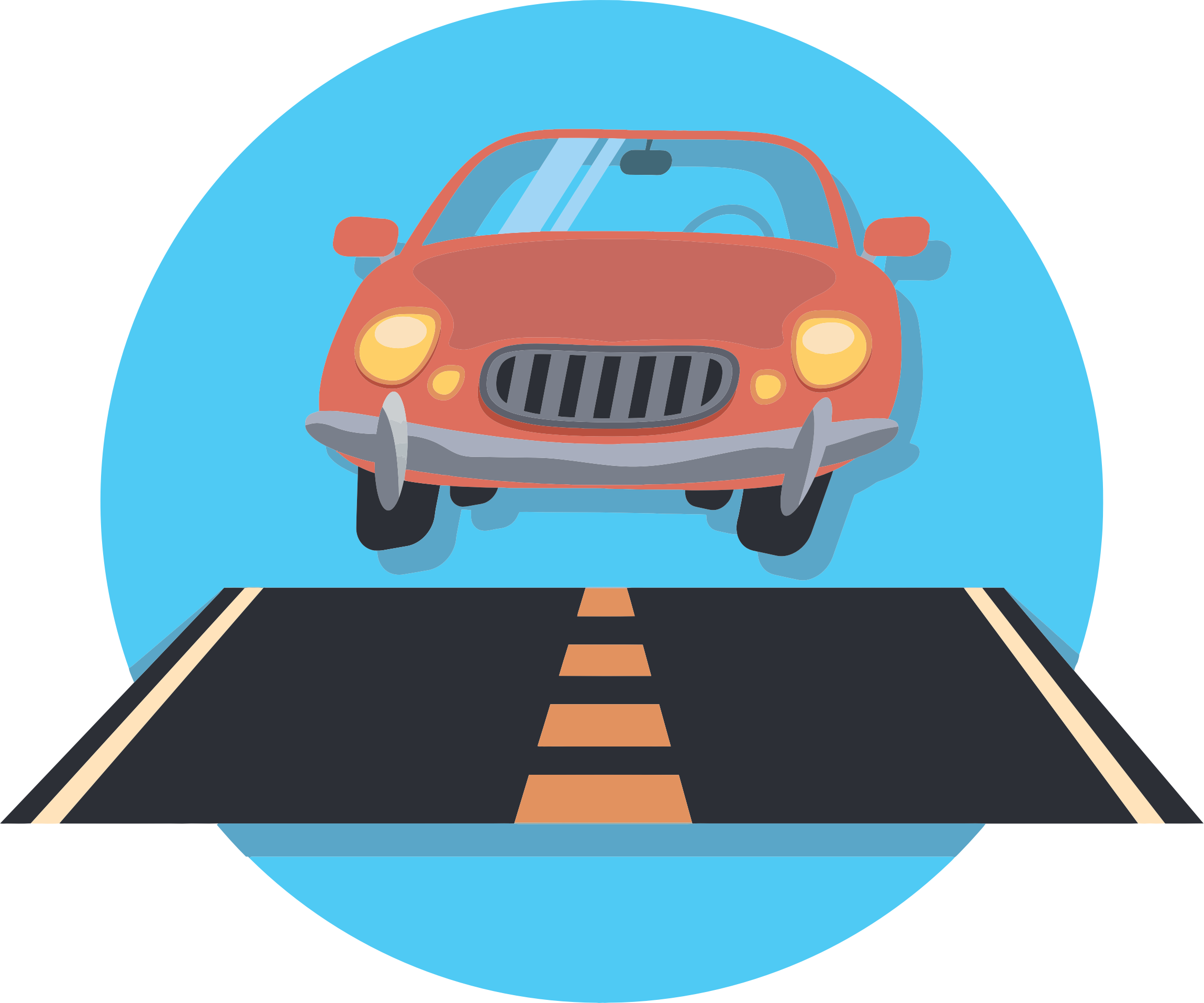 Pathway clipart lane. Car and road icon