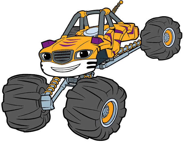 Clipart car machine. Blaze and the monster