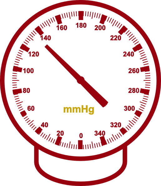 Pressure tonometer gold red. Clipart cars meter