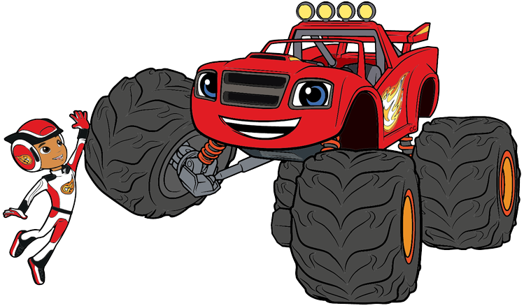 Race clipart monster truck tire. Blaze and the machines