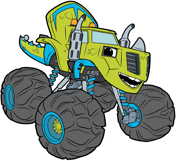Blaze and the monster. Driver clipart cartoon