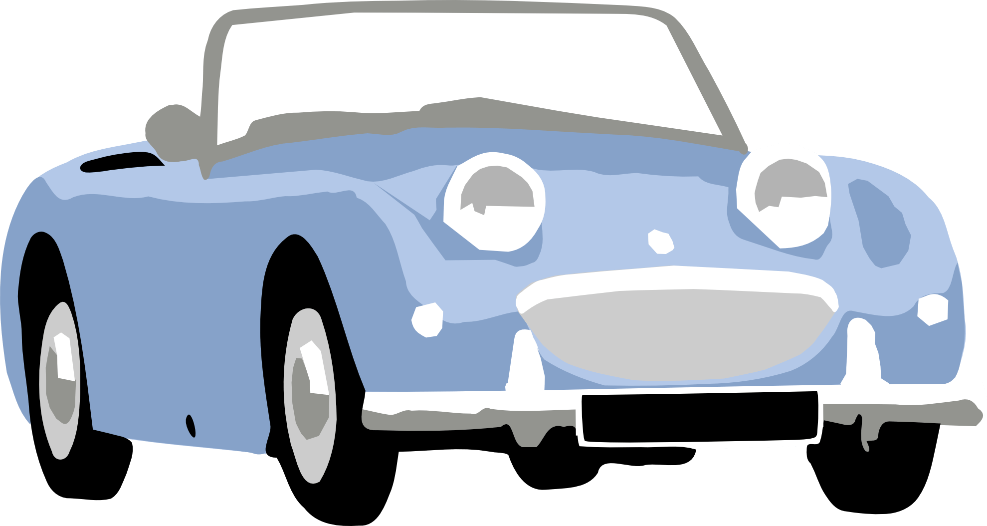 Driving clipart infront. Classic muscle car at