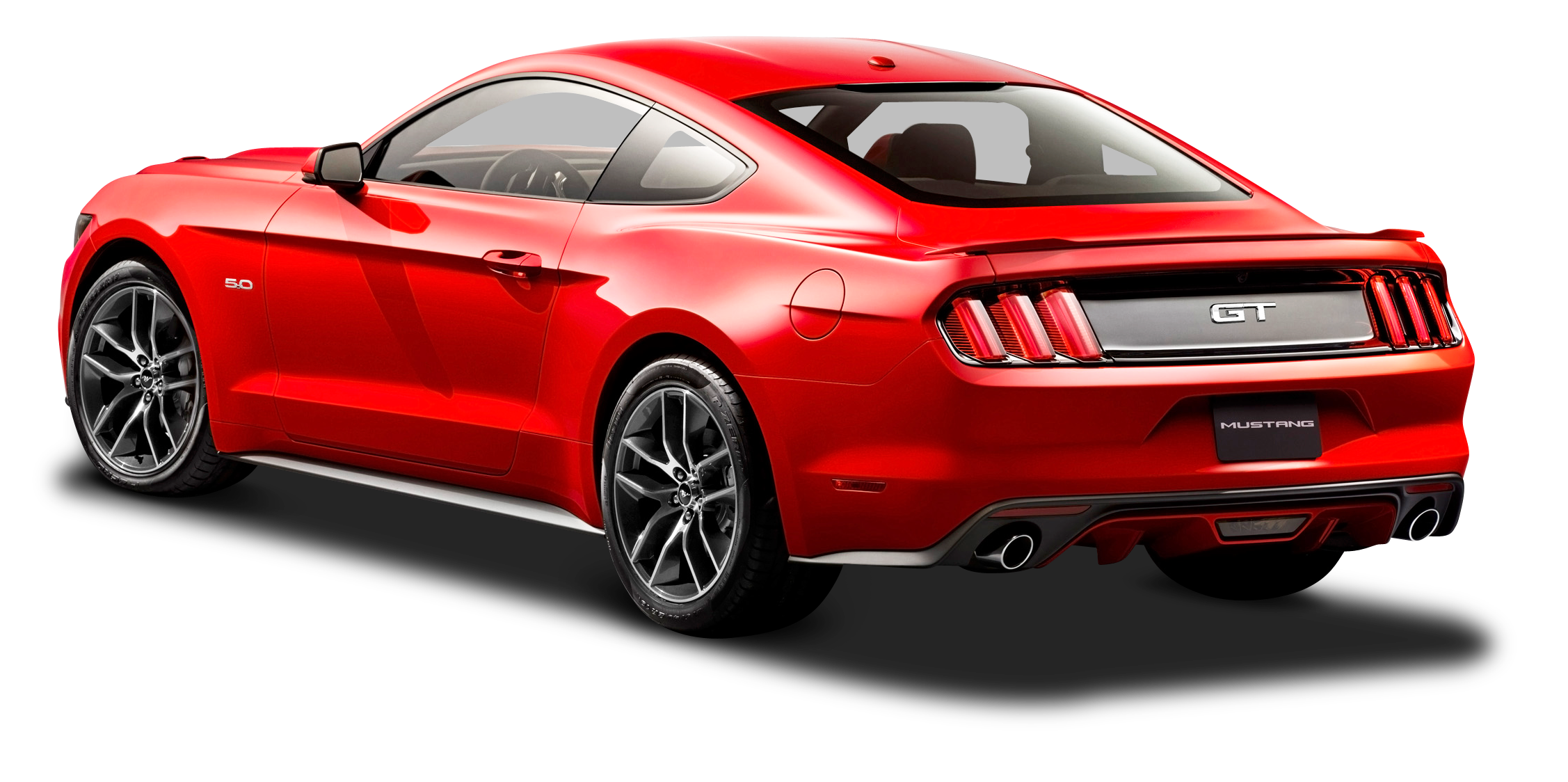 Ford mustang red car. Clipart cars back