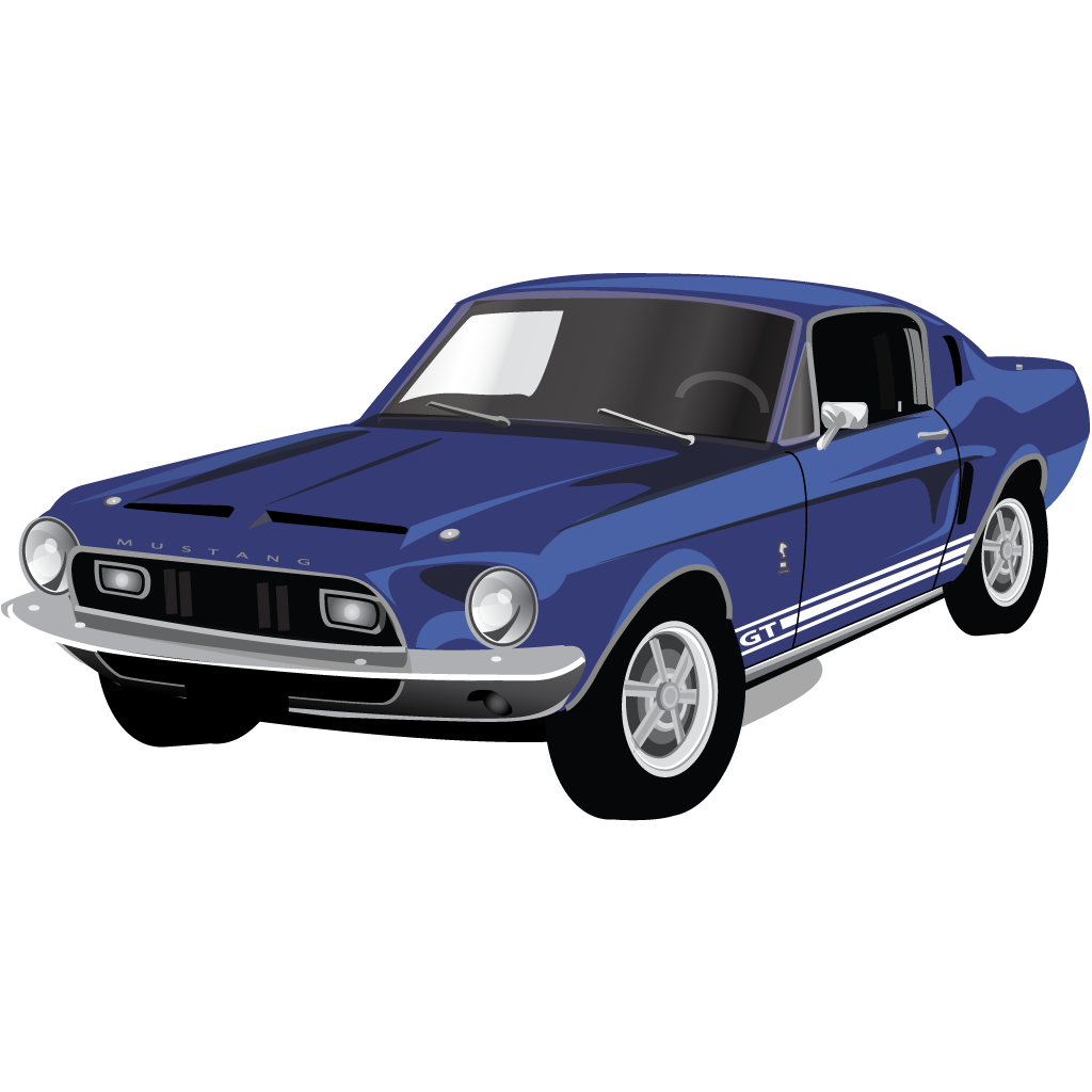 mustang clipart old mustang